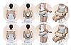 Массажер для спины, шеи и поясницы Cervical Massage Shawls!Хит цена, фото 2