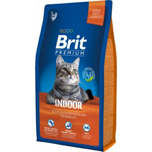 Корм для котів Brit Premium Cat Indoor 8кг