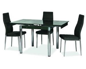Стол кухонный обеденный столовый стеклянный раскладной (6 цветов) GD-082 80x80(131) (Signal)