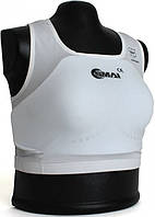 Защита груди Smai для женщин с лицензией WKF (белая)
