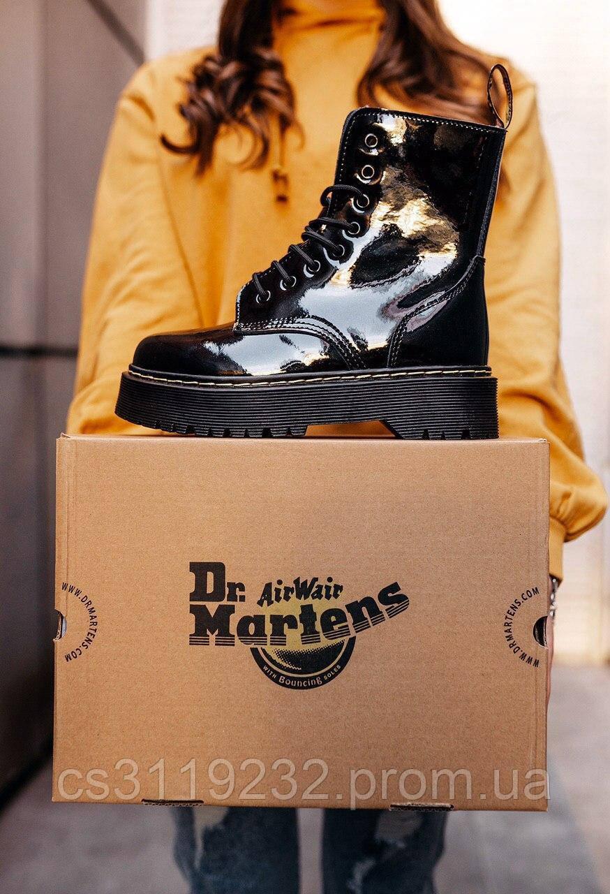 Женские ботинки зимние Dr.Martens JADON GALAXY (мех) (черный)