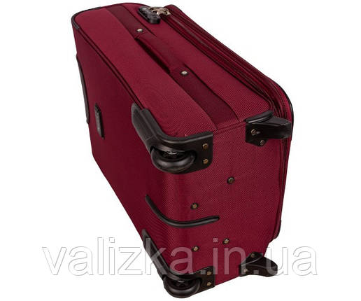 Текстильный чемодан маленький для ручной клади Golden Horse на двух колесах бордовый, фото 2