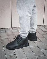 Мужские Ugg Натуральная Кожа Угги/Овчина, Черные, Водоотталкивающая пропитка, Мужские зимние ботинки, фото 2