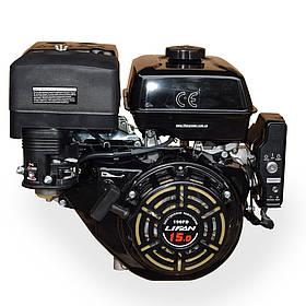 Двигатель газобензиновый Lifan LF190FD BF (15 л.с., электростартер, вал 25 мм, шпонка)