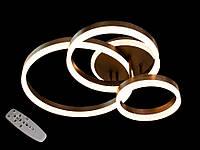 Светодиодная люстра с пультом-диммером и подсветкой коричневая 2052-3, фото 1
