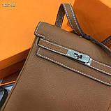 Рюкзак женский Эрмес, кожаная реплика, фото 4