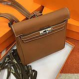 Рюкзак женский Эрмес, кожаная реплика, фото 5