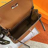 Рюкзак женский Эрмес, кожаная реплика, фото 6