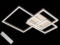 Светодиодная люстра с пультом-диммером белая 11017-3, фото 1
