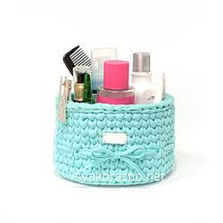 Вязаная корзинка для интерьера handmade 16*12см