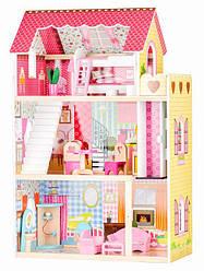 Кукольный деревянный домик Ecotoys 4120 90 x 59 x 30 cm + аксессуары (9125)