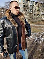 Дубленка кожаная , куртка кожаная на меху , натуральная дубленка , мужская дубленка, Imparator Pelle