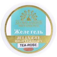 Моделирующий гель для ногтей Global Fashion Jelly Gel Tea Rose 15 мл