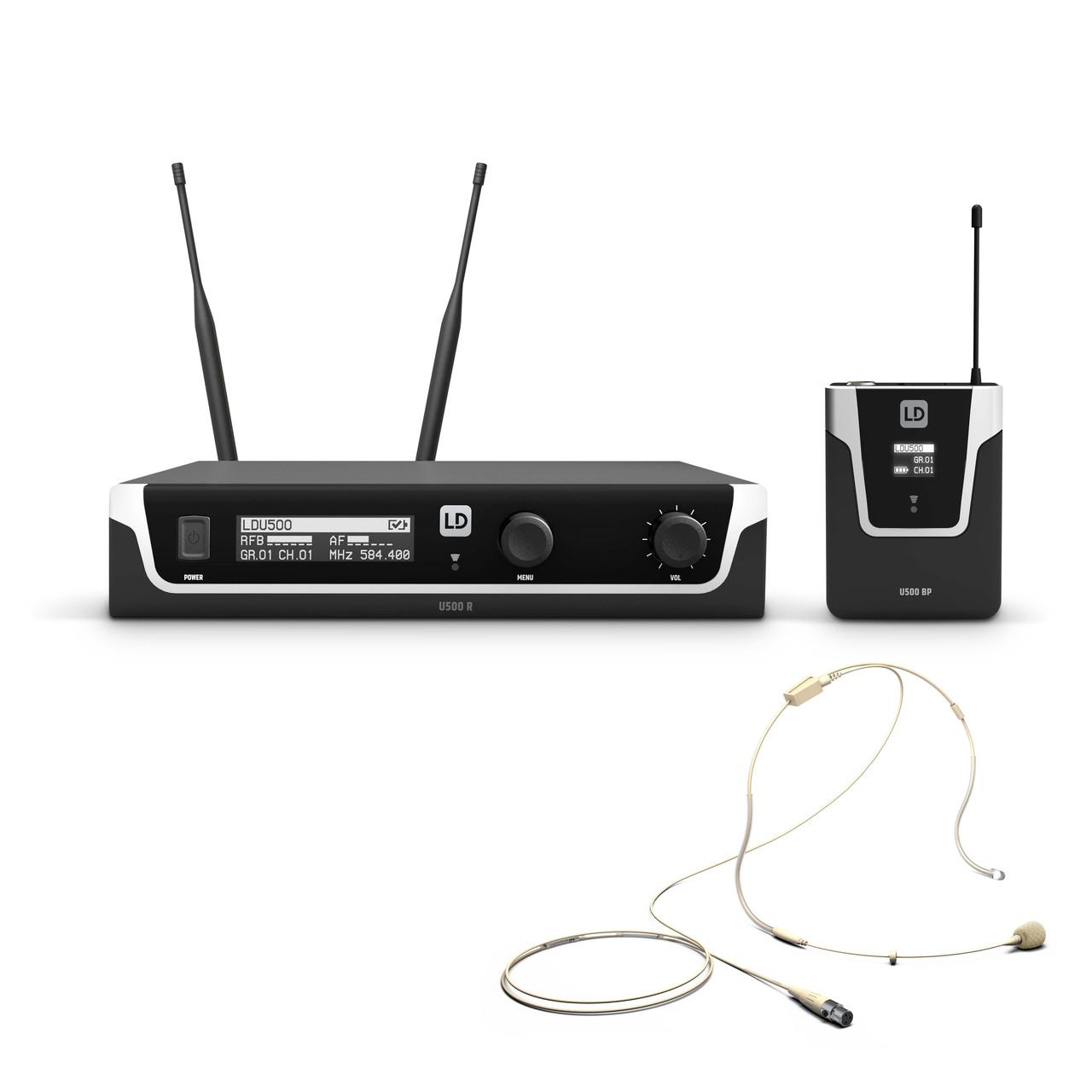 Радиосистема с головной гарнитурой телесного цвета LD Systems U500BPHH
