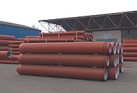 Труба гофрированная Инкор, SN4, d 300мм x 6000мм, (Incor), двухслойная, для канализации