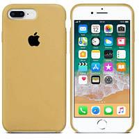 Силиконовый Чехол накладка на iPhone 7 Plus/8 Plus Silicone Gold ( чехол айфон 7 Plus/8 Plus Золотой )
