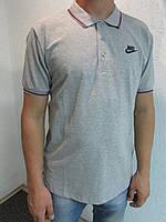 Мужская футболка Найк 7830 серая код 065в