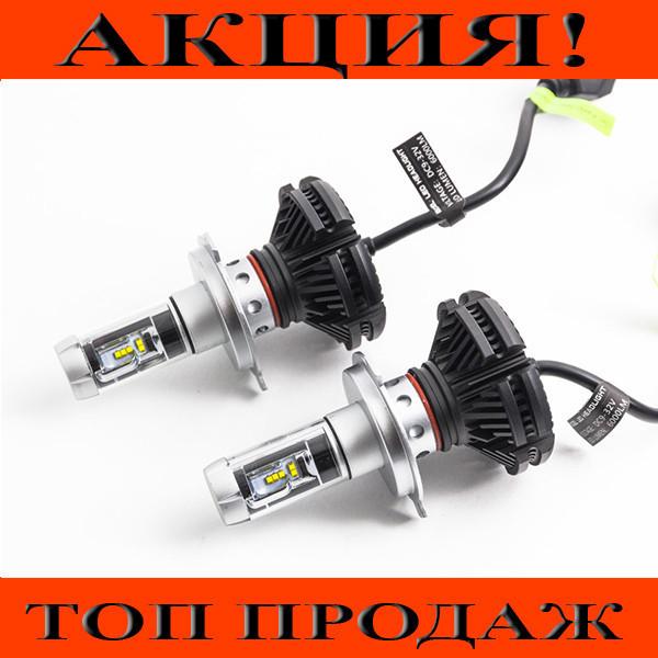 LED лампы для авто комплект X3 H7!Хит цена