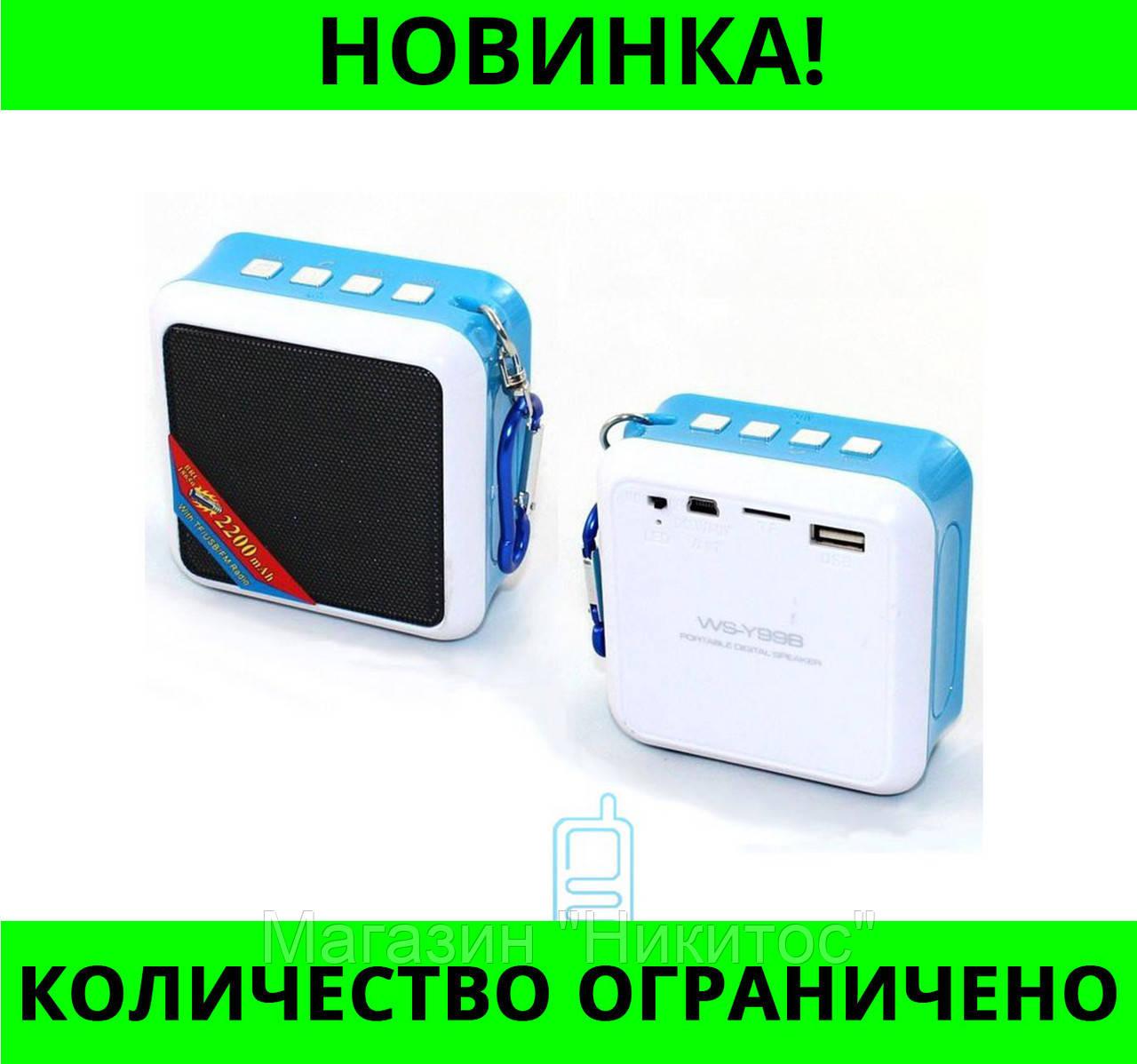 Портативная колонка Bluetooth WSTER WS-Y99B USB, micro SD, FM!Розница и Опт