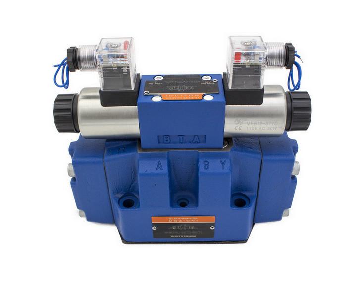 Гидрораспределитель электромагнитный  ДУ25, схема J (34)