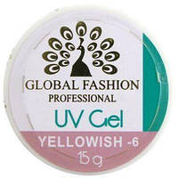 Моделирующий гель для ногтей Global Fashion UV Gel Yellowish-6 15 мл