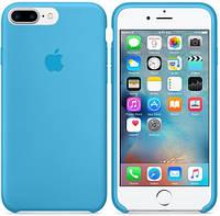Силиконовый Чехол накладка на iPhone 7 Plus/8 Plus Silicone ( чехол айфон 7 Plus/8 Plus голубой )