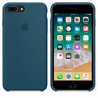 Силиконовый Чехол накладка на iPhone 7 Plus/8 Plus Silicone Cosmos blue ( чехол айфон 7 Plus/8 Plus )