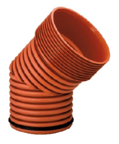 Колено 45°, d 300мм, Инкор (Incor), для канализации