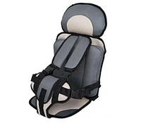 Бескаркасное автокресло Child Car Seat детское авто-кресло в машину Светло-серый