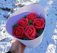 Троянди з мила KupuiDarui Букет ручної роботи 350 г (000642)
