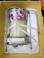 Керамическая сушка для столовых приборов с подоном, фото 1