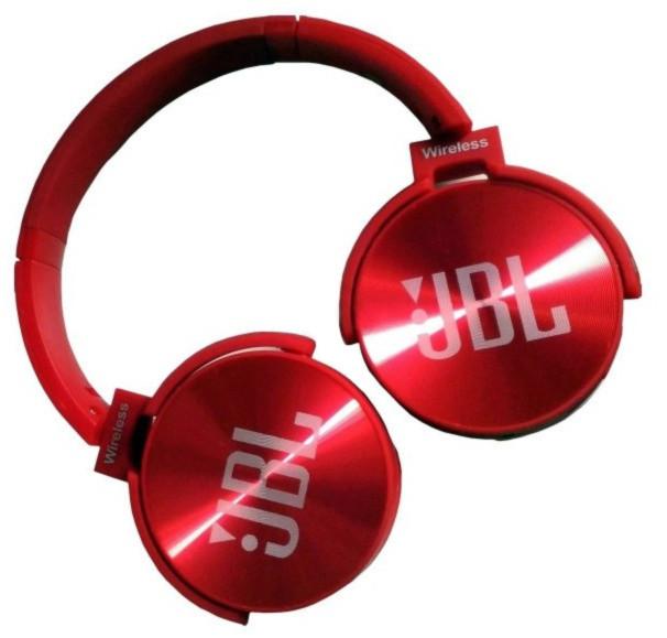 Наушники беспроводные Bluetooth MDR 950 microSD, красные