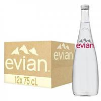 Вода Эвиан минеральная 0,75*12 в стекле New