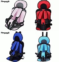 Бескаркасное автокресло для детей Mumugongzhu. Удобное дышащее регулируемое детское автокресло