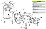 Механизм подачи топлива Pancerpol PPS Trio 75 кВт (Ретортная горелка на пеллете, угле и угольной мелочи), фото 8