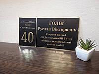 Табличка кабинетная черная + золото с номером кабинета