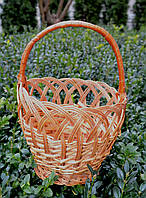 Великодній плетений кошик з лози, дитячий 16х15х21