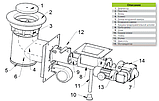 Механизм подачи топлива Pancerpol PPS Trio 100 кВт (Ретортная горелка на пеллете, угле и угольной мелочи), фото 8