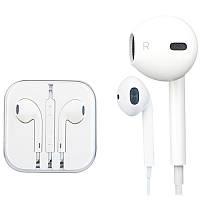 Наушники Apple EarPods (3,5) для iPhone 5 | 5S | 6 | 6+ | 6S | 6S+ с пультом и микрофоном (Белые) Service orig