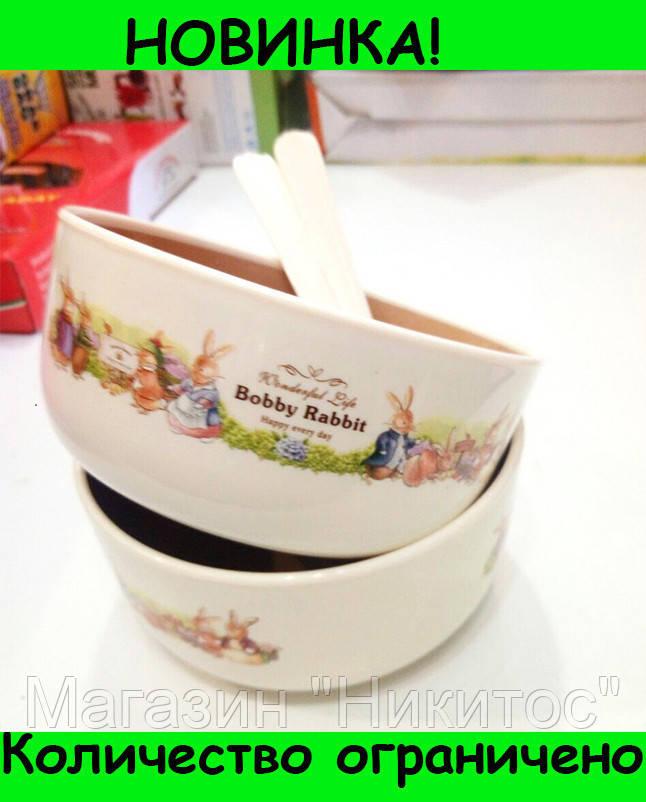 Набор детских тарелок Bobby Rabit Wonderful Life!Розница и Опт