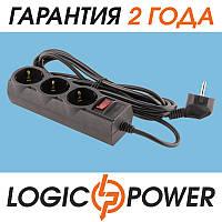 Сетевой фильтр LP-X3 LogicPower - 3 метра, 3 розетки (чёрный)