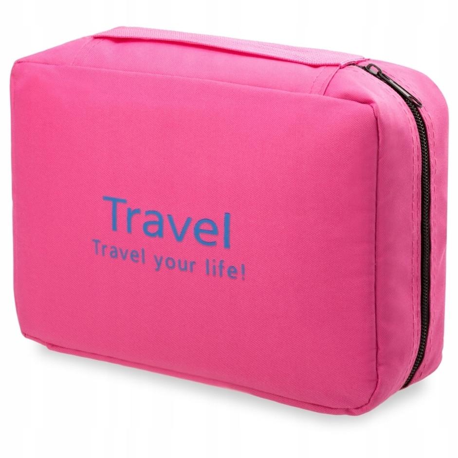 Органайзер дорожній для косметики Mindo travel 0006, рожевий