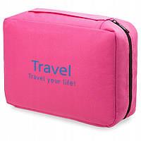 Органайзер дорожній для косметики Mindo travel 0006, рожевий, фото 1