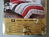 Сатиновое постельное белье полуторное ELWAY 5009 «Абстракция», фото 3