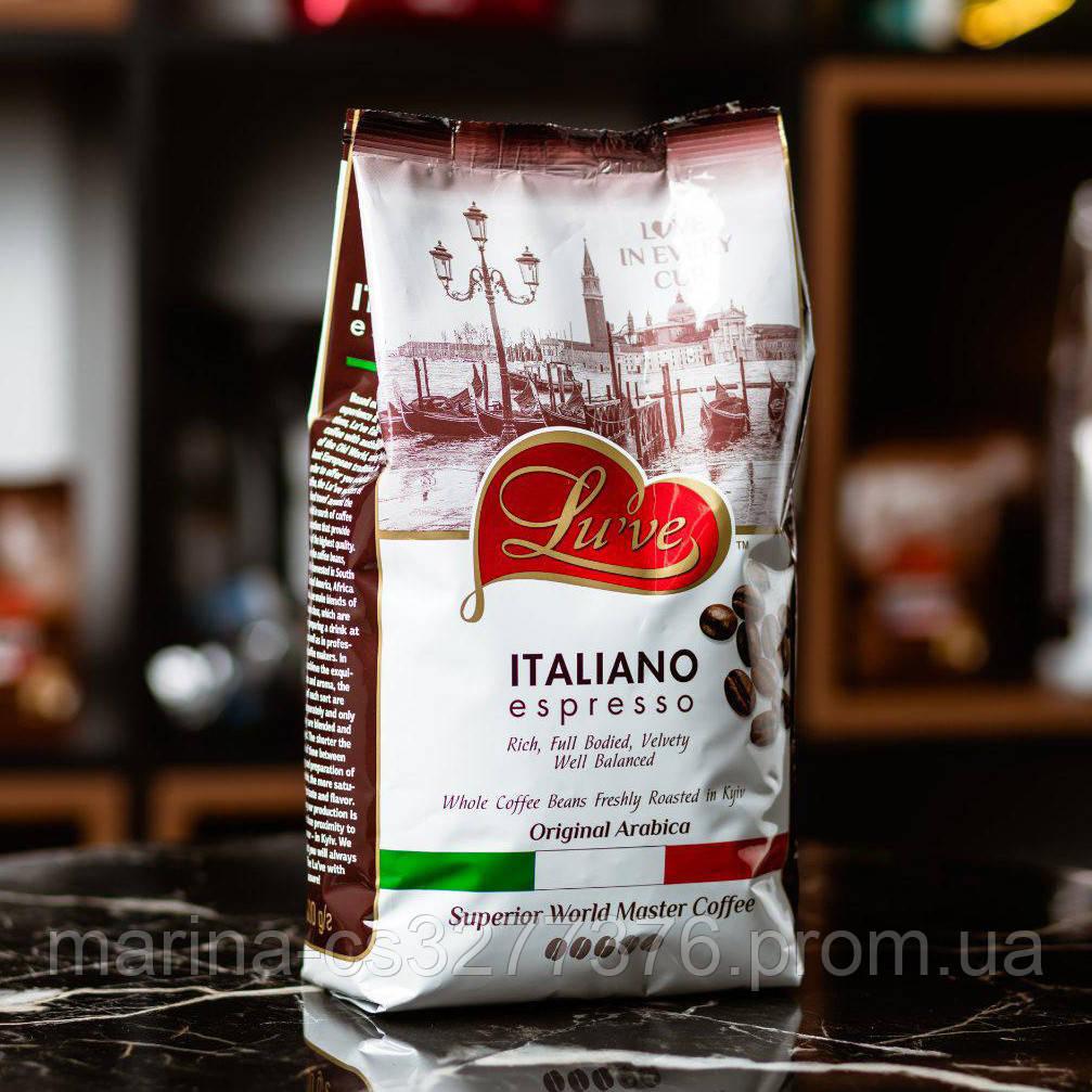 Купаж Lu've Italiano Espresso кофе в зернах 1кг фабричная обжарка - 60% арабика 40% робуста