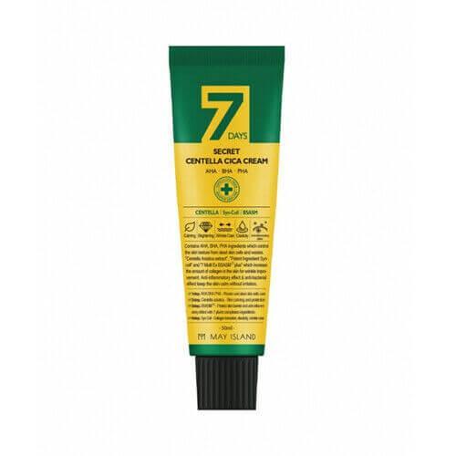 Восстанавливающий крем для проблемной кожи May Island 7 Days Secret Centella Cica Cream AHA/BHA/PHA, 50 мл