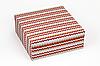 "Коробка ""ГифтБокс"" М0069-о5 вязаный принт, размер: 250*250*100 мм"
