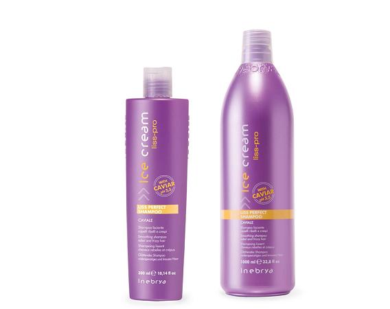 Шампунь для жорстких і неслухняного волосся Inebrya Ice Cream Liss-Pro Liss Perfect Shampoo, 1000мл
