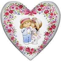 Подушка сердце валентинка интерьерная, 2 размера - 37*37 см; 57*57 см