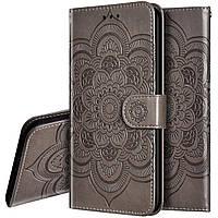 Чехол Lotus для Samsung Galaxy Note 10 Plus / N975F книжка кожа PU серый